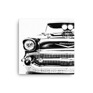1957 Chevy Bel Air Street Machine Front - Will Glover Featured Artist - Canvas Print