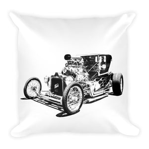 Ford T-Bucket Flames - Will Glover Featured Artist - Soft Pillow