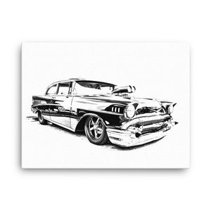 1957 Chevy Bel Air Street Machine - Will Glover Featured Artist - Canvas Print