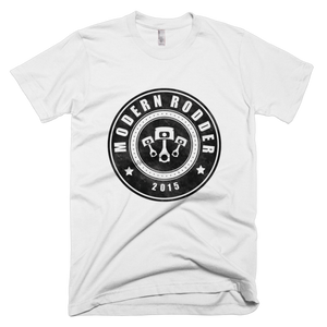 Men's T-Shirt in rich cotton with a large Modern Rodder logo