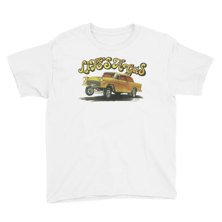 1955 Chevy Gasser - Chris Morland Collection - Youth Short Sleeve T-Shirt