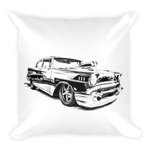 1957 Chevy Bel Air Street Rod - Will Glover Featured Artist - Soft Pillow
