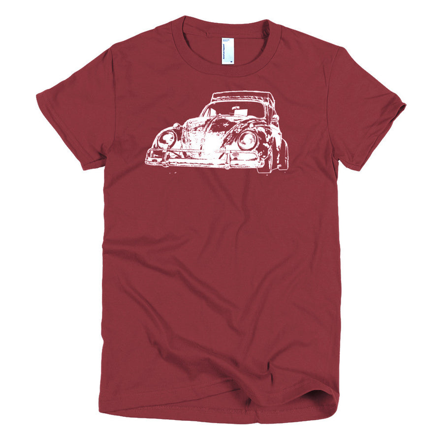 1962 VW Beetle Custom Dub Patina - Modern Rodder - Women's T-Shirt