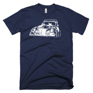 1967 VW Beetle - Custom Patina - Modern Rodder - Men's T-Shirt