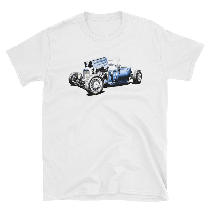 1927 Ford T-Bucket Blue Hot Rod - Will Glover Collection - Men's T-Shirt