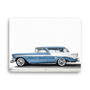 1956 Chevy Bel Air Nomad Wagon - Will Glover Featured Artist - Canvas Print