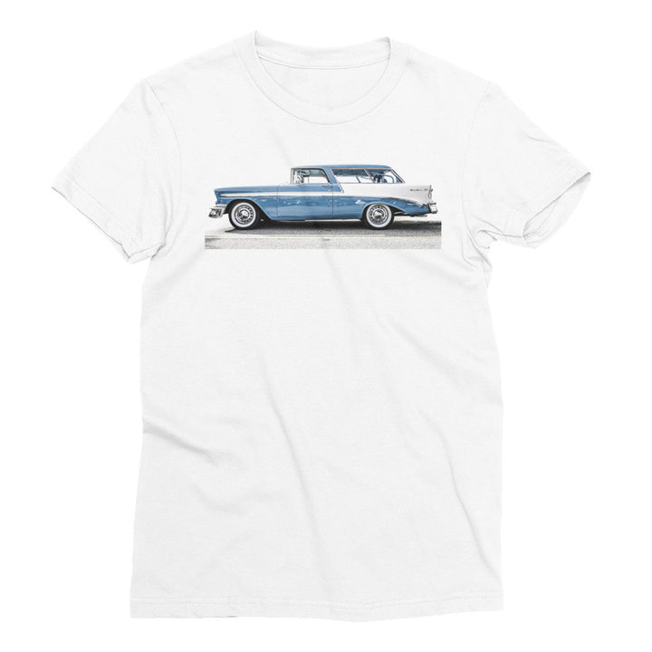 1956 Chevy Bel Air Nomad Wagon - Will Glover Featured Artist - Women's Short Sleeve T-Shirt