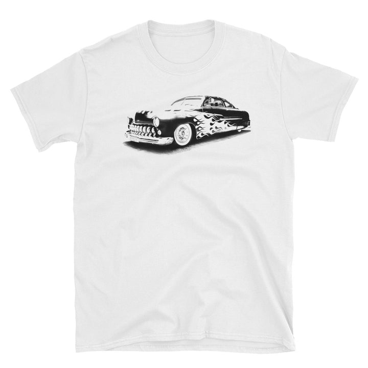 1950s Mercury Lead Sled with Flames - Will Glover Collection - Men's T-Shirt