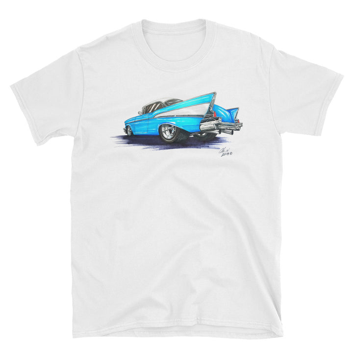 1957 Chevy Artwork - Chris Morland Collection - Men's T-Shirt