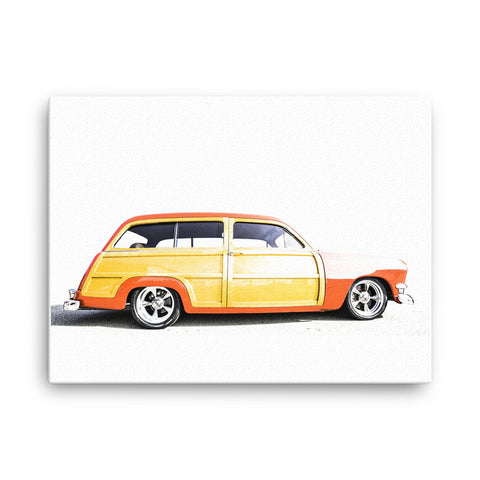 Ford Woody Wagon - Will Glover Featured Artist - Canvas Print