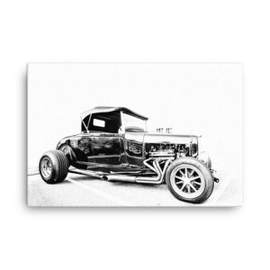 1931 Ford Convertible Hot Rod - Will Glover Featured Artist - Canvas Print