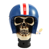 Skeleton Racing Helmet - Universal Resin Gear Shifter Knob - Motorcycle