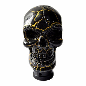Black Gold Skull Cool Design - Universal Car Truck Shifter Knob Manual