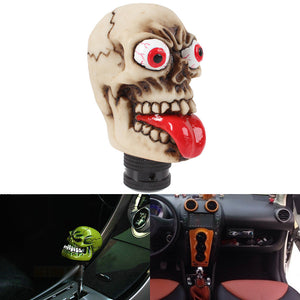 Universal Human Carved Skull Head - Car Gear Stick Shifter Knob