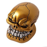 Universal Manual Car Gear Stick Shifter Knob Shift Lever Carved Skull Head Gold