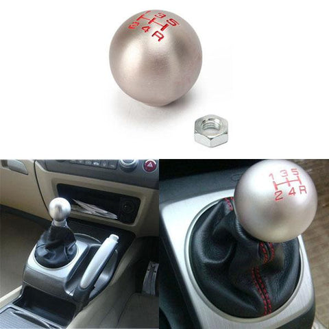 Universal JDM Racing - Round Ball Screw-On Gear Shift Knob Shifter Aluminum 6 Speed
