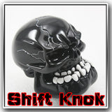 Universal Manual - Wicked Carved Black Skull Shift Lever Knob