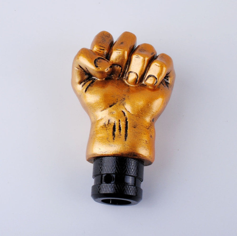 Golden Fist Shape Manual Gear Shift Knob
