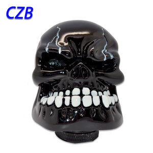 Wicked Carved Black Skull - Universal Manual Gear Stick Knob