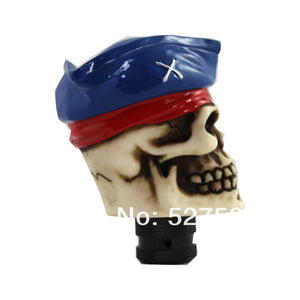 Dark Blue Pirate Cap / Skull - Universal Manual Gear Shift Knob