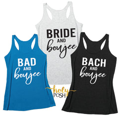 Bad and Boujee Bachelorette Party Shirts- Bach and Boujee- Bridesmaid Shirts- Bridal Party Shirt- Bridesmaids Tank- Bride Boujee- Boujee Shirts- Boozie Shirts-