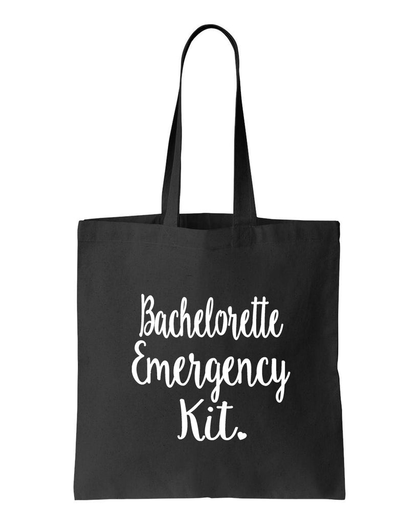 Bachelorette Emergency Kit Tote Bag- Survival Kit- Bridesmaid Gift Bag- Bridal Party Bag- Wedding Day- Bachelorette Party- Wedding Shower- Maid of Honor- Bride