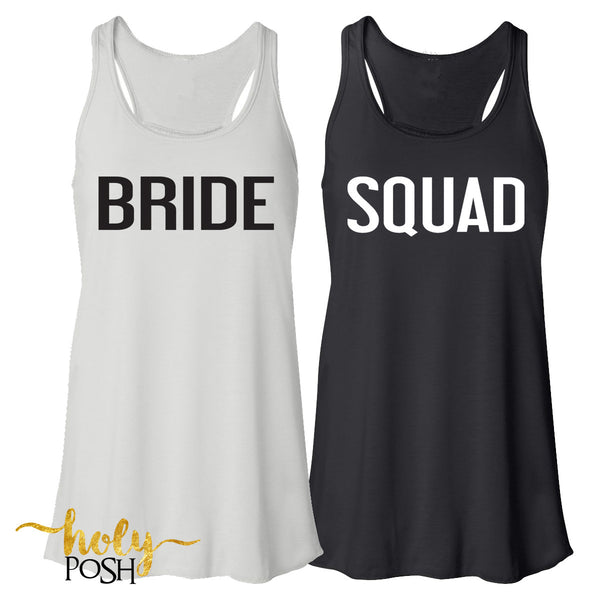 Bride Tank Top- Bride's Squad- Bride Shirt- Gift for Bride- Bachelorette Party- Bridal Party- Wedding Day- Bach Party- I Do-