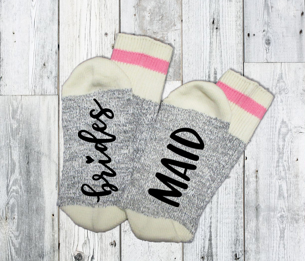 Bridesmaid Socks. Bridal Party. Bachelorette Party. Bridesmaid. Wedding Party. Bridesmaid Gift. Be My Bridesmaid.