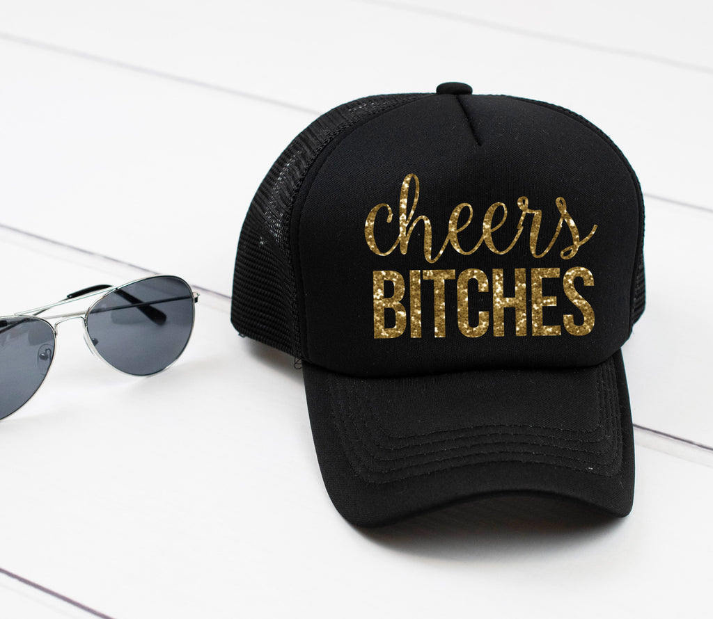 CHEERS BITCHES Hat. Cute Bridesmaid Hats. Future Mrs. Hat. Bride Hat. Bachelorette Party. Summer Hat. Custom Hats. Beach Please Bridal Party