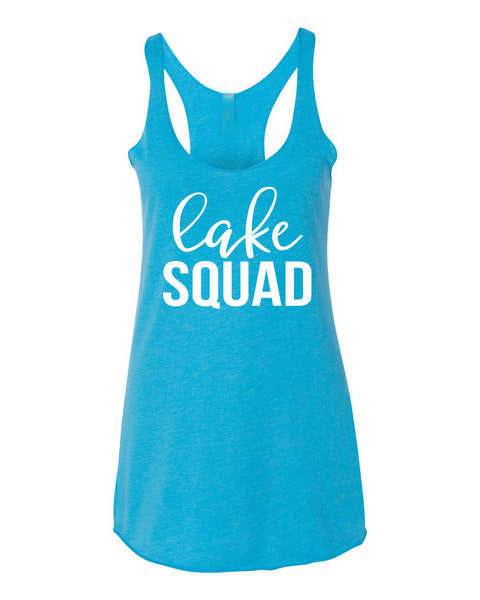 Lake Squad Tank Top- Girls Weekend- On Lake Time- Bachelorette Party- Squad Shirt- Summer Tank- Mermaid Squad- Lake Mode- Lake Hair-
