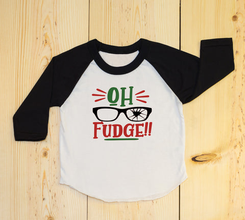 Oh Fudge Funny Kids Christmas Shirt. Toddler Christmas Shirt. Ugly Christmas. Christmas Story.