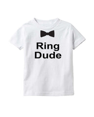 Ring Dude Boys Shirt- Wedding Day- Ring Bearer- Bridal Rehearsal Tee- Wedding Shirt- Baby Boy T-Shirt- Ring Holder- Wedding Party- Ring Security