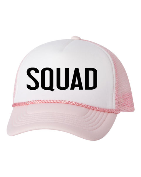 Bride Squad Trucker Hat. Bride Hat. Bachelorette Party. Bridal Party Hats. Bride Tribe. Bridesmaid Hats. Baseball Hat. Snapback Mesh Hat. Custom Hats.