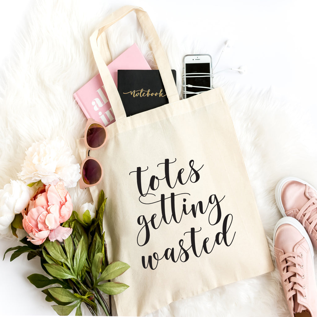Totes Getting Wasted Tote Bag- Emergency Kit Tote Bag- Bride- Bridesmaid Gift Bag- Bridal Party Bag- Bachelorette Party- Bridal Shower-