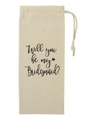 Bridesmaid Tote Wine Bag- Will You Be My Bridesmaid- Gift For Bridesmaids- Canvas Tote Bag- Bachelorette Party- Wine Bottle Bag- Maid of Honor