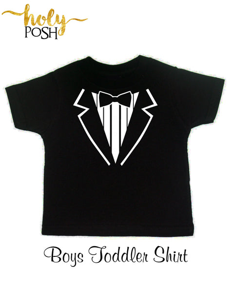 Wedding Tuxedo Shirt- Ring Security- Rehearsal Shirt- Wedding Shirt- Boys T-Shirt- Ring Holder- Wedding Day- Rehearsal Dinner- Holy Posh