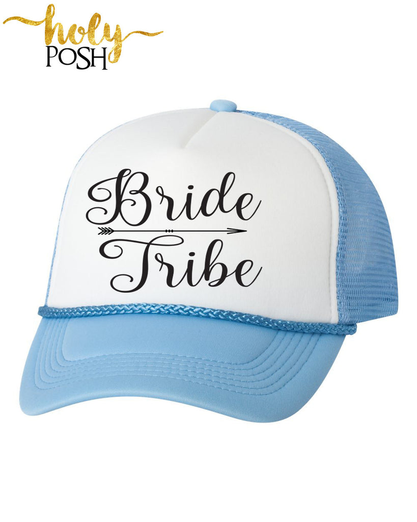 Bride Tribe Trucker Hat. Bride Hat. Bachelorette Party. Bridal Party Hats. Bridesmaid Hats. Baseball Hat. Snapback Mesh Hat. Custom Hats.