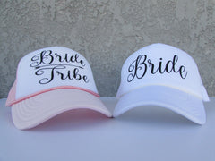 Bride Trucker Hat. Bride Hat. Wifey Hat- Mrs Hat- Bachelorette Party. Bridal Party Hats. Bridesmaid Hats. Baseball Hat. Snapback Mesh Hat.