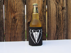 Groom Can Cooler- Groomsmen Drink Holder- Bachelor Party- Hubby- Las Vegas- Bridal Party- Insulated Can Coolies- Engagement Party- Honeymoon