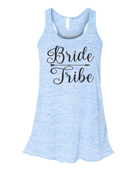 Bride Tribe Flowy Tank Top- Bridesmaid Tank- Bacheloretty Party- Wedding Party Tanks- Bride Tank- Bride's Mates- Bridal Party Tank Top-