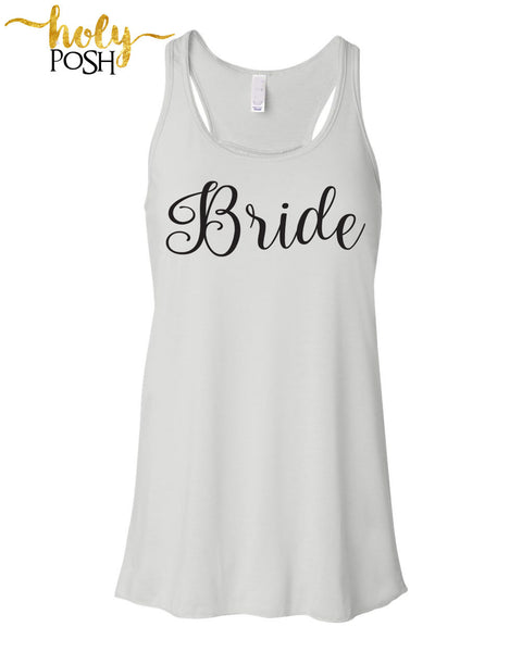Bride Tank Top- Bride Shirt- Bride Gift- Wifey Tank- Mrs. Tank- Bride To Be- Bacheloretty Party- Bridal Party- Wedding Day- Bride Shirt-