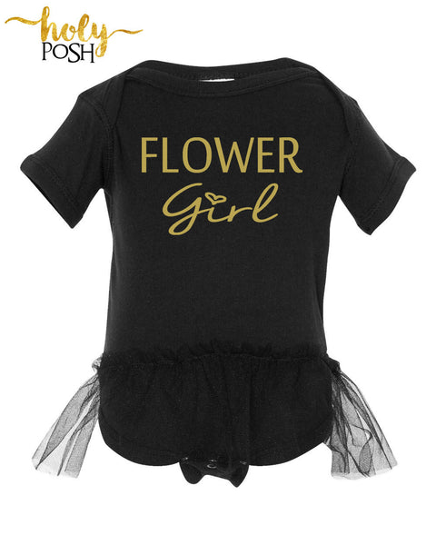 Flower Girl Bodysuit- Wedding Day- Infant Flower Girl- Tutu Flower- Bridal Party- Baby Tutu - Newborn- Petal Pusher- Flower Girl Shirt