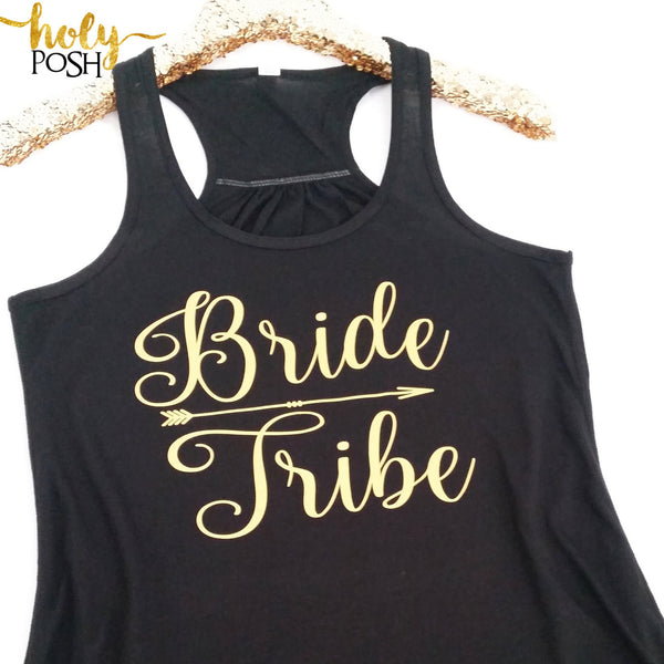 Bride Tribe Flowy Tank Top- Bridesmaid Tank- Bacheloretty Party- Bridal Tank Top- Wedding Party Tanks- Bride Tank- Bride's Drinking Team