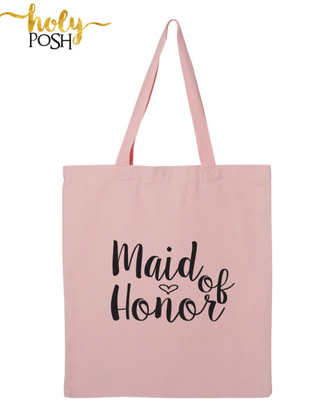 Bride Tote Bag- Bridesmaid Tote- Bridesmaid Gift Bag- Bridal Party Bag- Wedding Tote Bag- Bridesmaids Gift- Maid of Honor Tote- Holy Posh