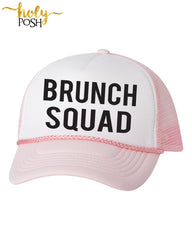 Brunch Squad Trucker Hat. Mimosas Hat. Bachelorette Party. Bridal Party. Bridesmaid. Baseball Hat. Snapback Mesh Hat. Custom Hats. Champagne