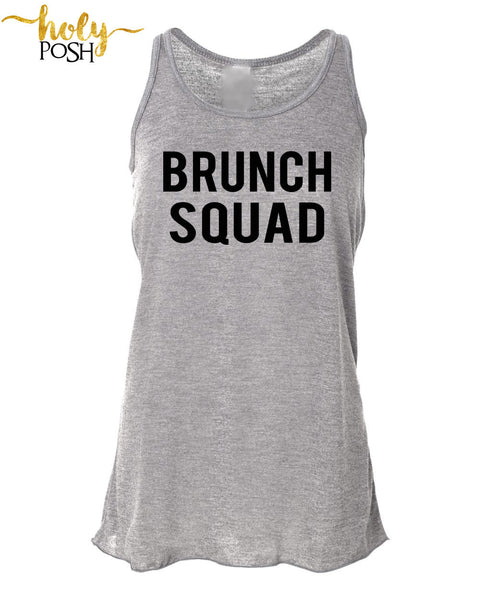 Brunch Squad Flowy Tank Top- Brunch Tank- Bridal Party Shirt- Mimosa Tank. Brunch Shirt- Champagne Tank- Bridesmaid- Squad Goals- Funny Tank