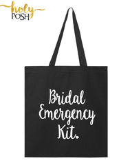 Bridal Emergency Kit Tote Bag- Bride- Bridesmaid Gift Bag- Bridal Party Bag- Wedding Day- Bachelorette Party- Wedding Shower- Maid of Honor