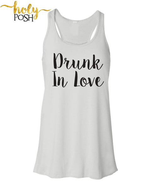Drunk In Love Bride Tank Top- Bacheloretty Party- Bride Shirt- Bride Gift- Wifey Tank- Mrs. Tank- Bride To Be- Bridal Party- Bride Shirt-