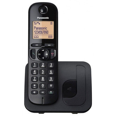 Panasonic KX-TGC210EB Digital Cordless Phone with LCD Display (Black) - Walkie Talkies and Phone