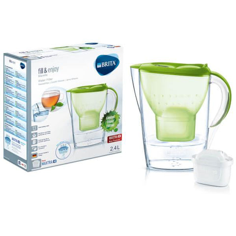 Brita Marella 2.4L Water Jug with 1 Maxtra Filter (Lime) - Water Filters